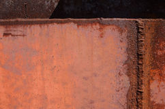 Rust and corrosion in the weld Royalty Free Stock Photos