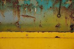 Rust and decay and happy colours Royalty Free Stock Photos