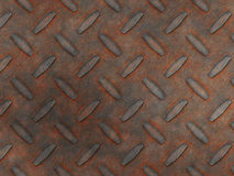 Rust diamond metal. Abstract generated rust metal diamond plate background Stock Images