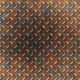Rust diamond metal Stock Image
