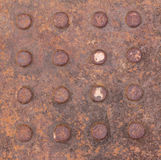 Rust on dirty iron texture Stock Photography