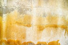 Rust and erosion of concrete surface was damaged by groundwater. Rust and erosion of concrete wall surface was damaged by groundwater stock photos