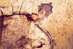 Rust and erosion iron metal surface had damage by weathe. R and temperature Stock Photo