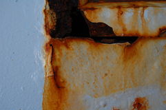 Rust on ferry. Rusted metal on ferry to martha's vineyard Stock Images