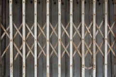 Rust fold steel door. Old rust fold steel door Royalty Free Stock Photo