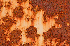 Rust and fragment vintage iron plate Stock Photography