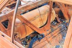Rust gas tank Stock Photo