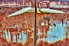 Rust and grunge car doors Stock Photos