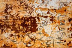 Rust grunge painted sheet Royalty Free Stock Photos