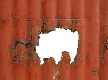 Rust hole Stock Photos