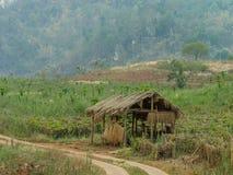 Rust hut in het landbouwbedrijf van Thailand Royalty-vrije Stock Foto's