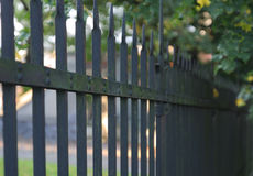 Rust iron castle fence in sunny day. Rust iron castle fence in sunny summer  day Royalty Free Stock Photography