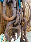 Rust Iron Chain royalty free stock image