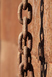 Rust iron chains Royalty Free Stock Images