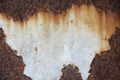Rust iron sheet. Have center blank for text or post Stock Photography