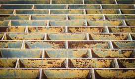 Rust iron sieve Royalty Free Stock Photo