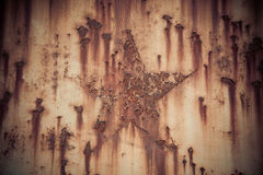 Rust iron with star shape background Royalty Free Stock Images
