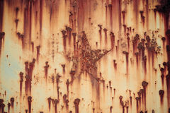 Rust iron with star shape background Royalty Free Stock Image