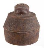 Rust kerosene lamp Stock Photo