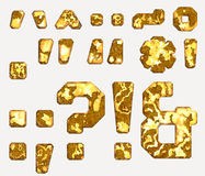 Rust letter marks and symbols stock illustration