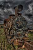 Rust locomotive. (HDRi royalty free stock photography