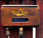 Rust mail box background stock images