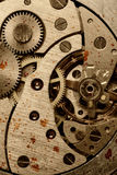 Rust mechanism of analog watch Stock Images