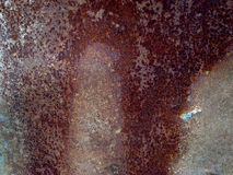 Rust metal. Illustration of iron aged rust pattern, background Stock Images