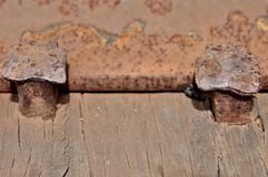 Rust metal, damage of Rust and Corrosion background Stock Photos
