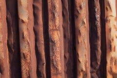 Rust on a metal door Stock Images