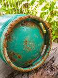 Rust metal on gas tank Royalty Free Stock Photography