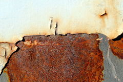 Rust on metal. Rust on a metallic surface Stock Images