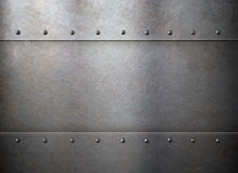 Rust metal old texture or background with rivets Stock Photography