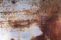 Rust on metal, old worn wall Royalty Free Stock Photo
