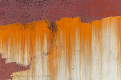 Rust on metal, old worn wall Stock Photo