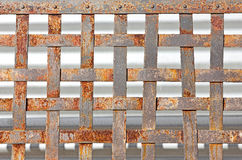 Rust Metal Pattern. Old rusty metal makes a fence pattern Stock Photography