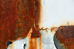 Rust on metal. Surface close up Royalty Free Stock Images