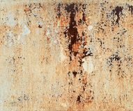 Rust on metal surface covered with paint. Rust on metal surface covered with peeling paint Stock Photo