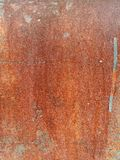 Rust on metal surface covered with paint. Rust on metal surface covered with peeling paint Royalty Free Stock Photography