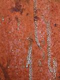 Rust metal surface with paint Royalty Free Stock Photography