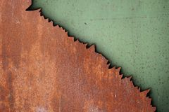 Rust on metal surfaces Royalty Free Stock Photo
