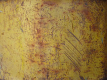 Rust metal texture. Iron rusty surface of steel, Background yellow stock image