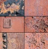 A rust metal texture and rivet Royalty Free Stock Image
