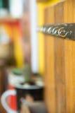 Rust metallic hook screws Royalty Free Stock Image