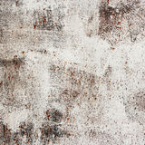 Rust metallic wall with white enamel Royalty Free Stock Images