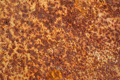 Rust on the metals, with paint residues Royalty Free Stock Photos
