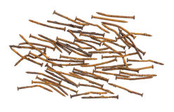 Rust nail Stock Photo
