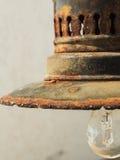 Rust never sleeps. Rusty fishing lamp used on boats Stock Photo