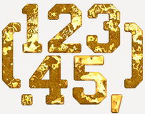 Rust numbers iron numerical letters Royalty Free Stock Image