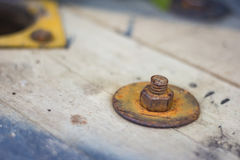 Rust on nut Royalty Free Stock Photography